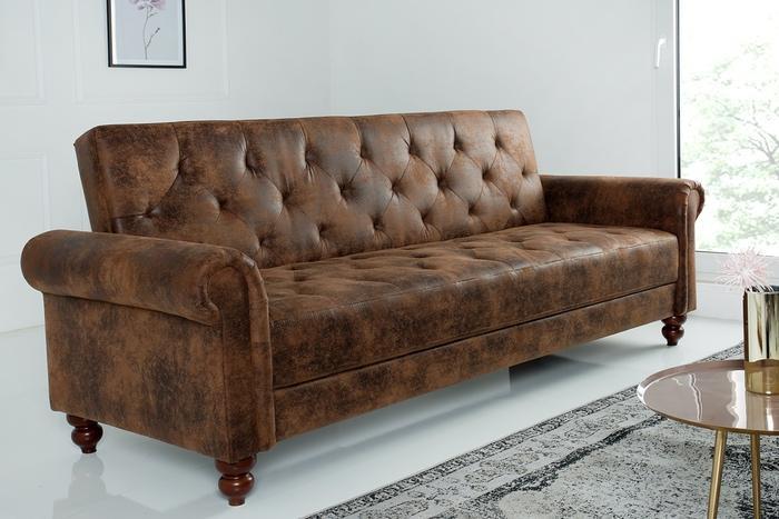 Dizajnová sedačka Scarlet II 225 cm rozkladacia / antická hnedá