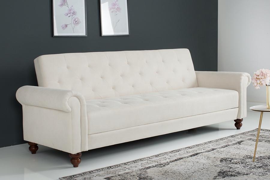 Dizajnová sedačka Scarlet 220 cm rozkladacia / krémová