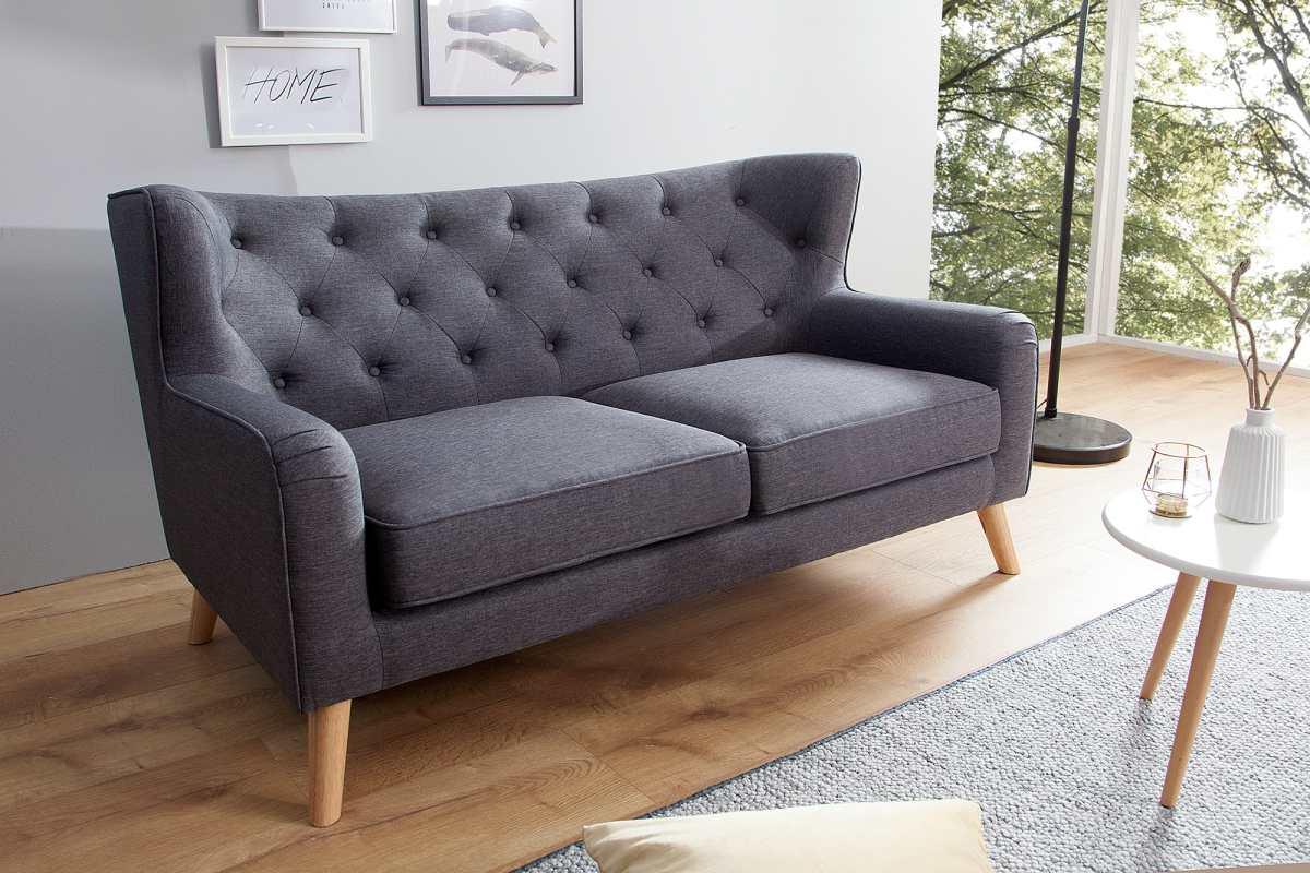 Dizajnová dvoj-sedačka Nyla antracit