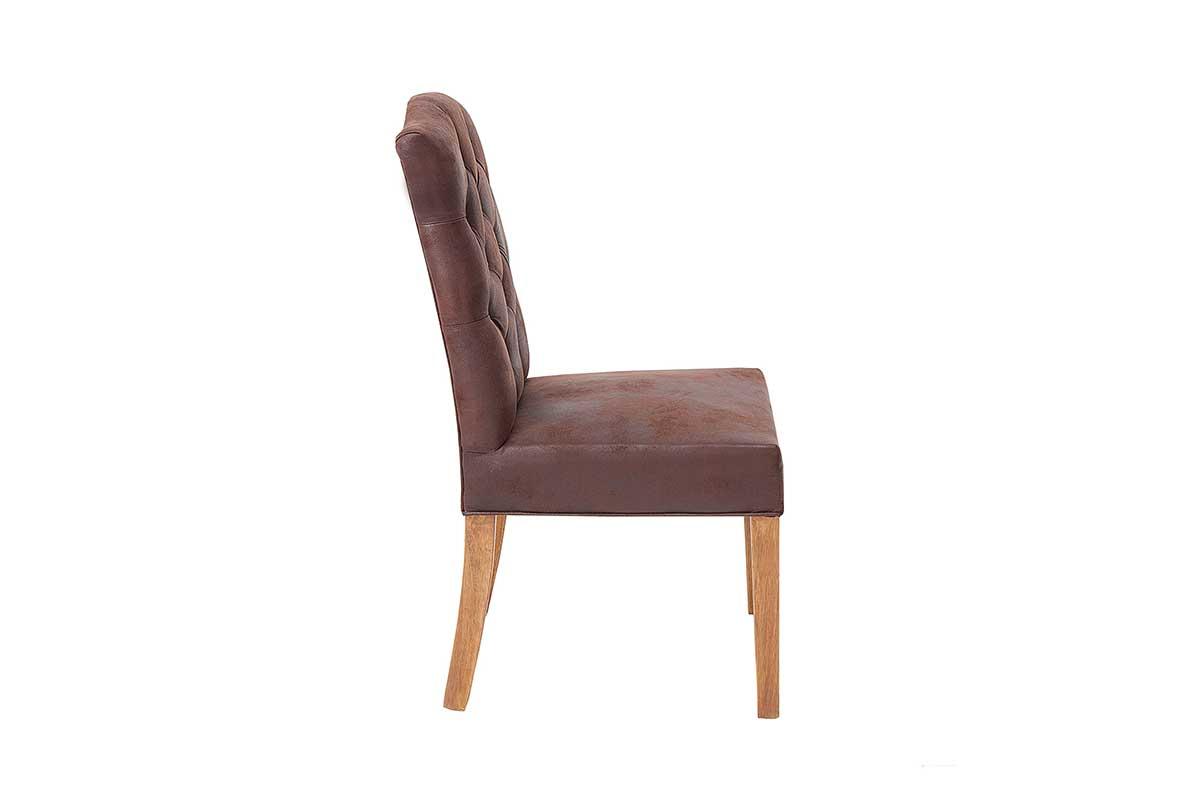 Dizajnová stolička Queen kávová hnedá