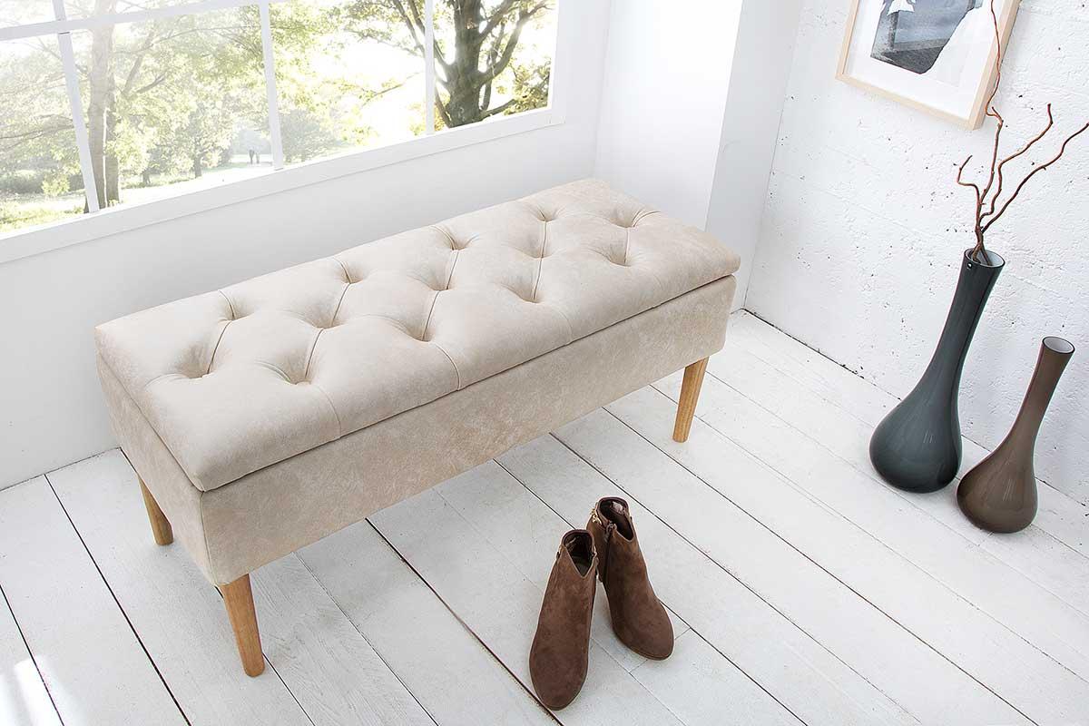 Dizajnová lavica Queen béžová