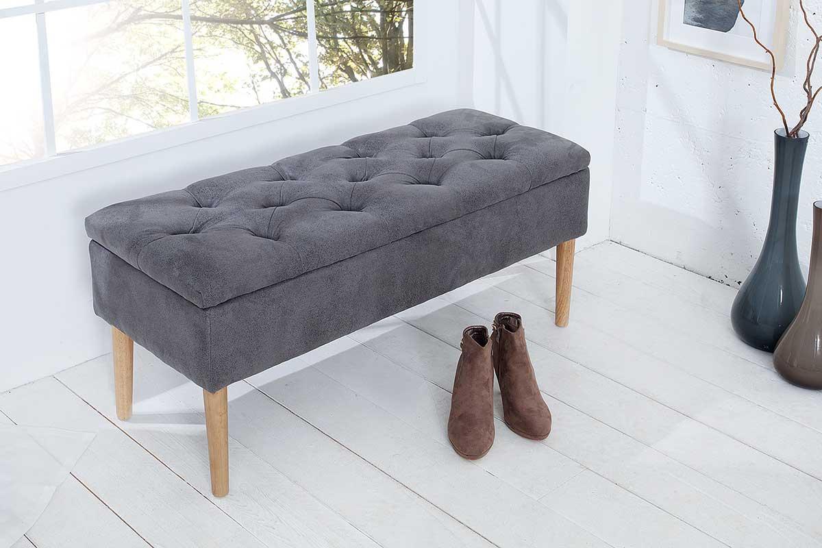 Dizajnová lavica Queen sivá