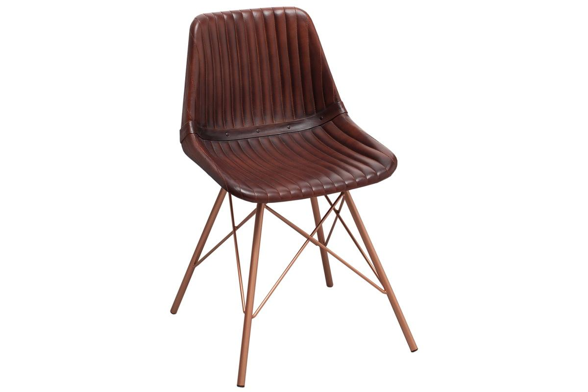 Dizajnová stolička Audrina hnedá