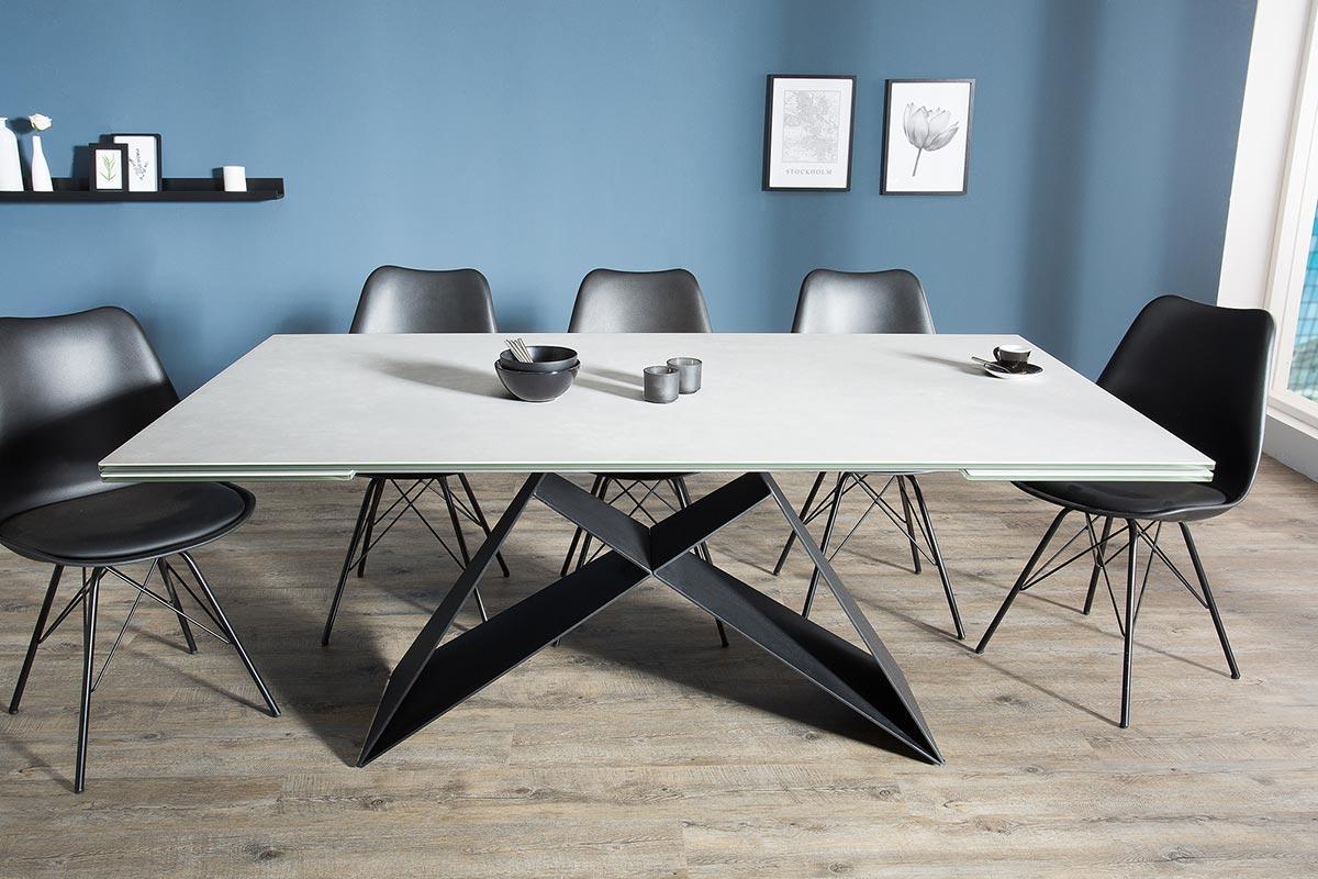 Rozkladací jedálenský stôl Brock sivý 180-260 cm