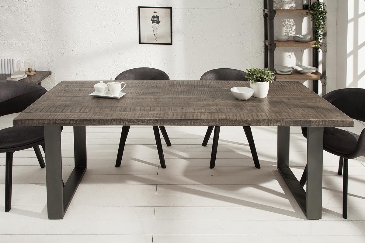 Luxusný jedálenský stôl Thunder 160 sivé mango