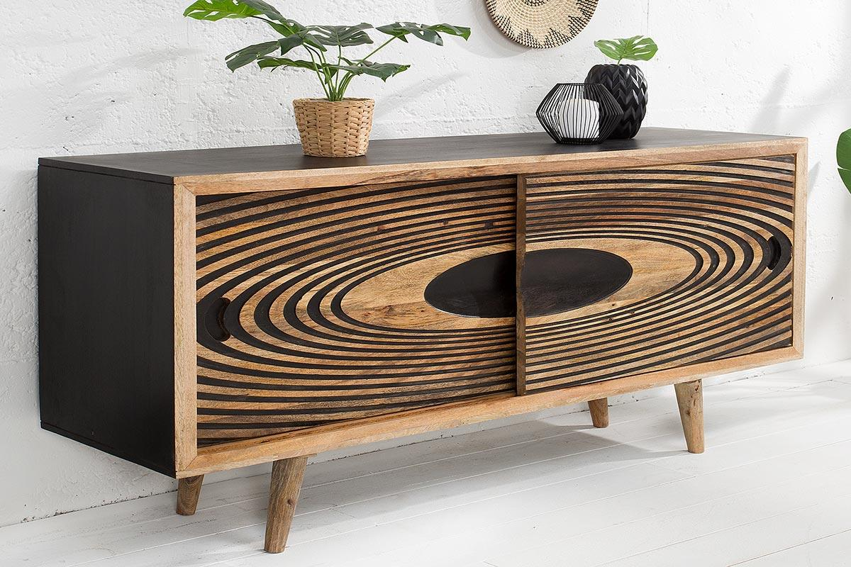Dizajnová komoda Dallas 160 cm mango - II. Trieda