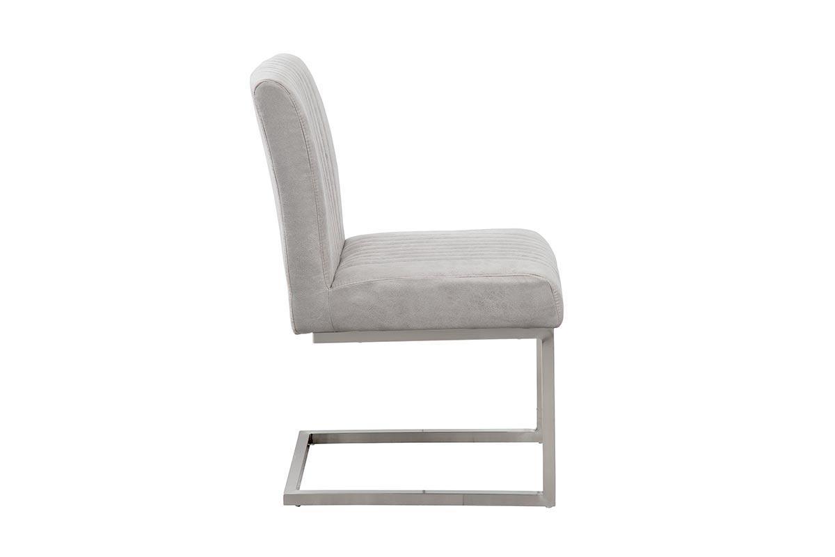 Stolička Boss II sivá / strieborný rám