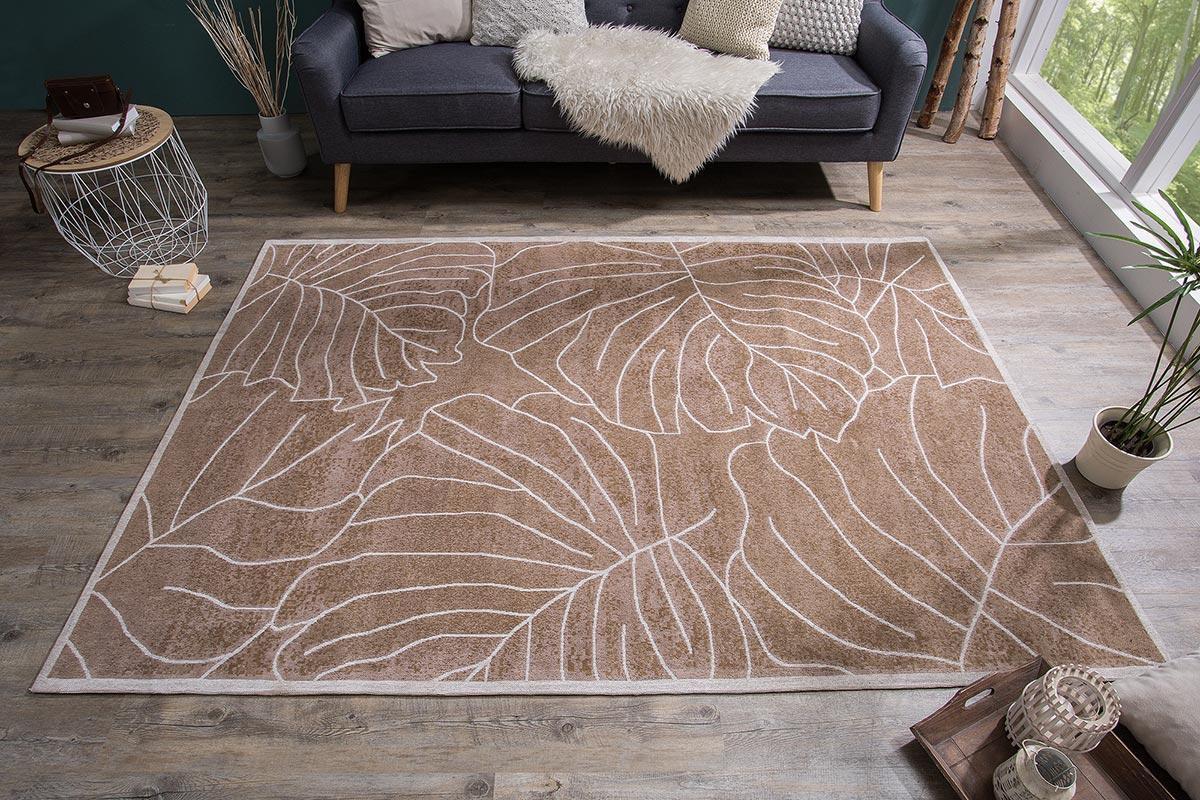 Dizajnový koberec Karina 240x165 hnedý