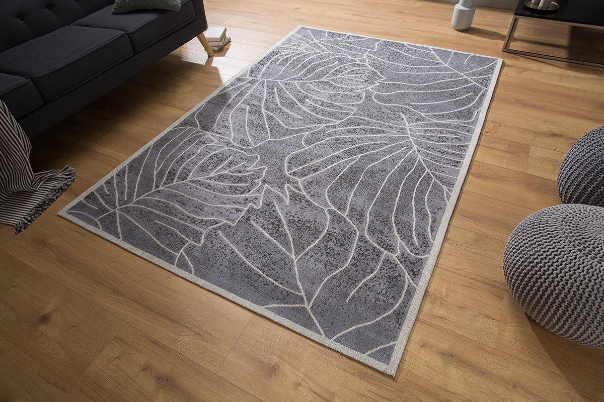 Dizajnový koberec Karina 240x165 sivý