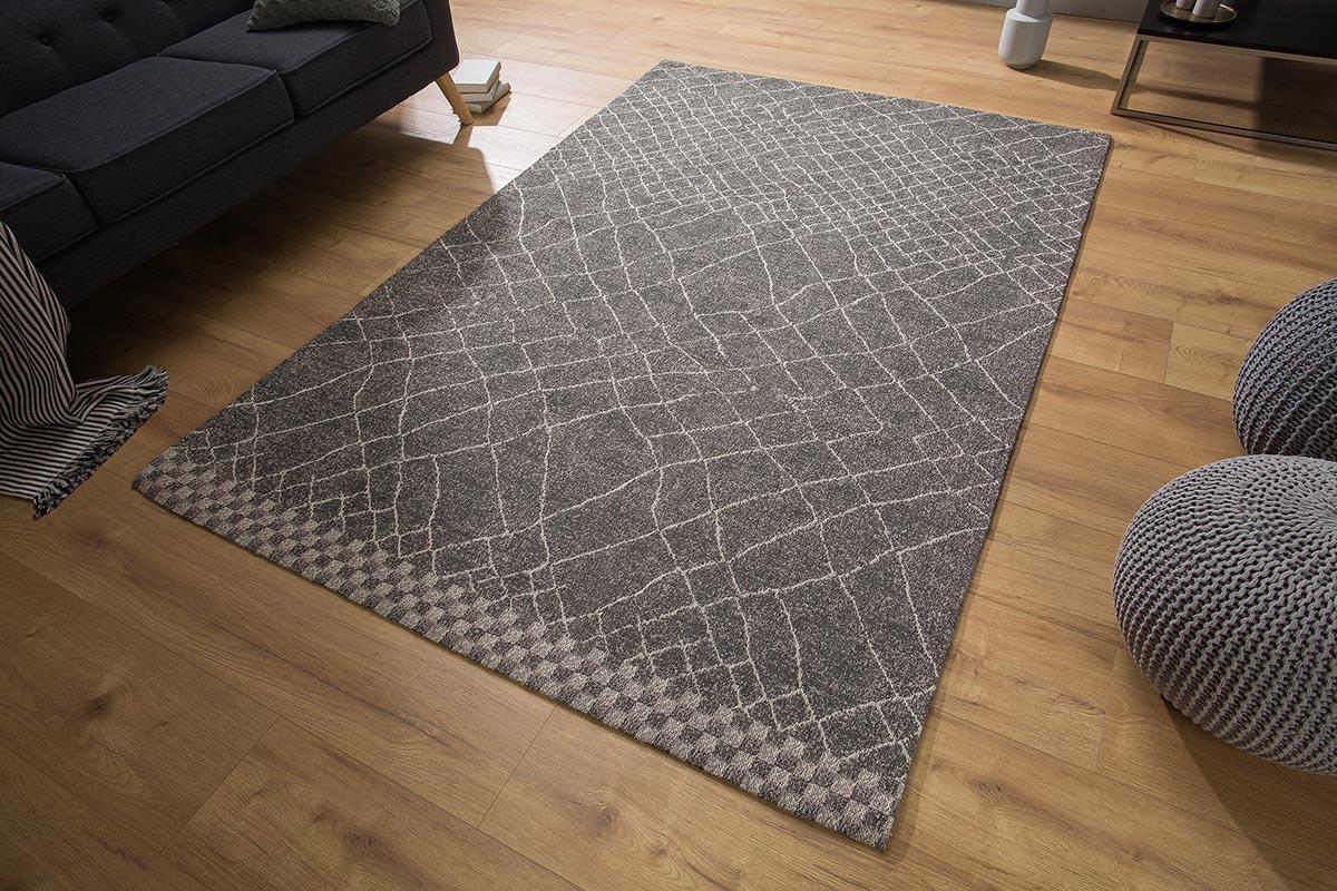 Dizajnový koberec Kelly 240x160 čierny / béžový vzor