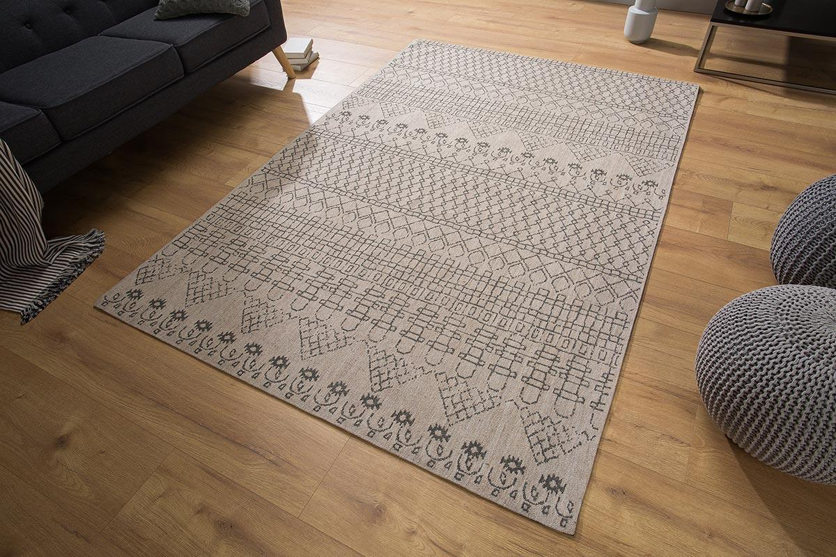 Dizajnový koberec Kelly 240x160 béžový / čierny vzor