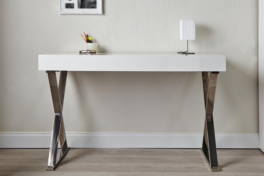 Luxusný písací stôl Goodwill biely 100