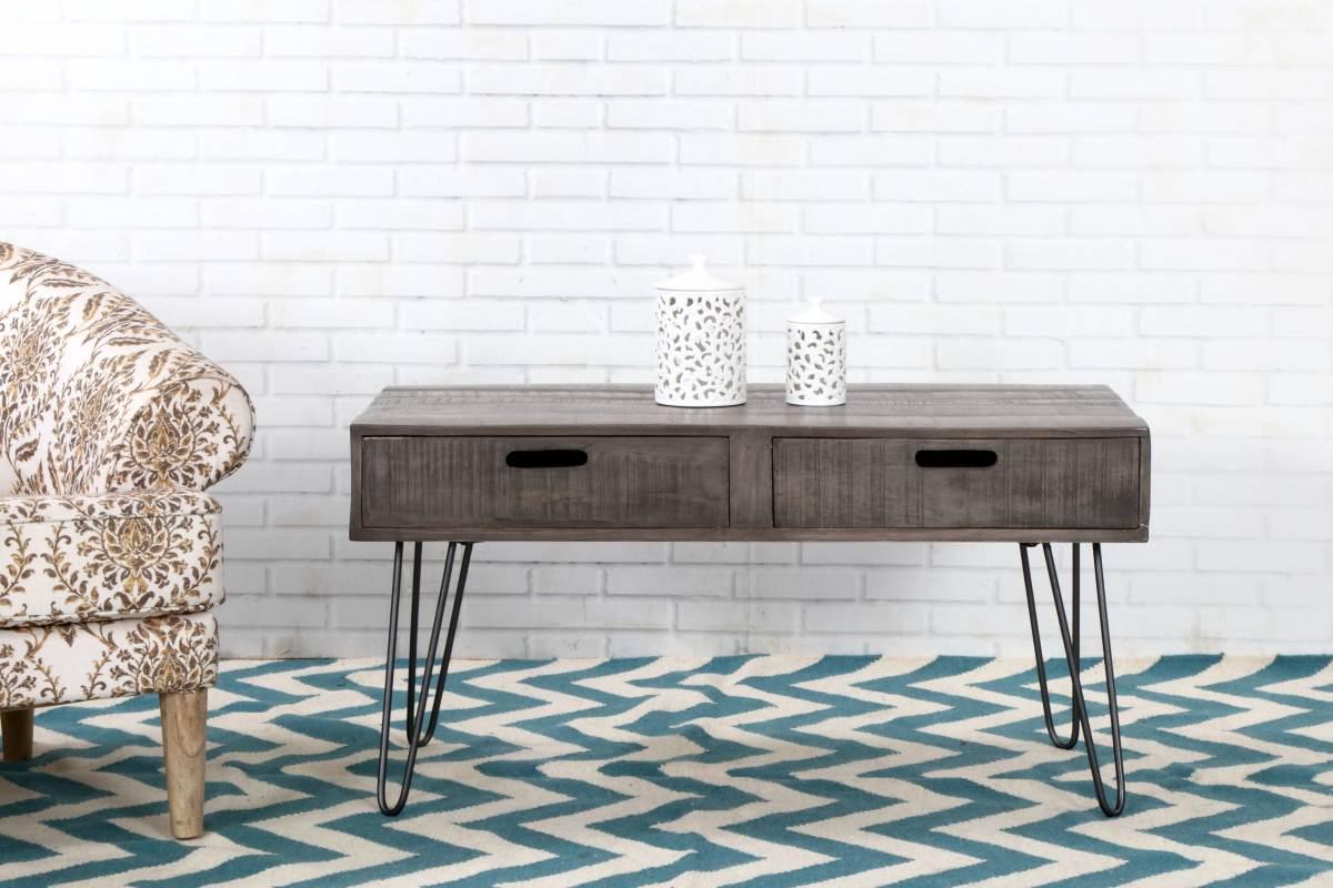Dizajnový konferenčný stolík Felix 100cm sivé mango