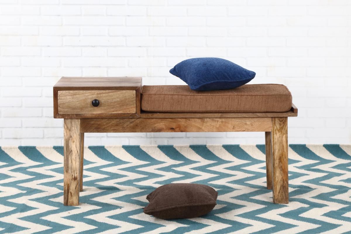 Dizajnová lavica Devon 100 cm mango