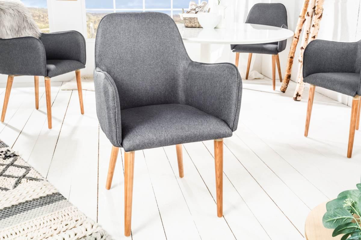 Dizajnová stolička Norway, tmavosivá