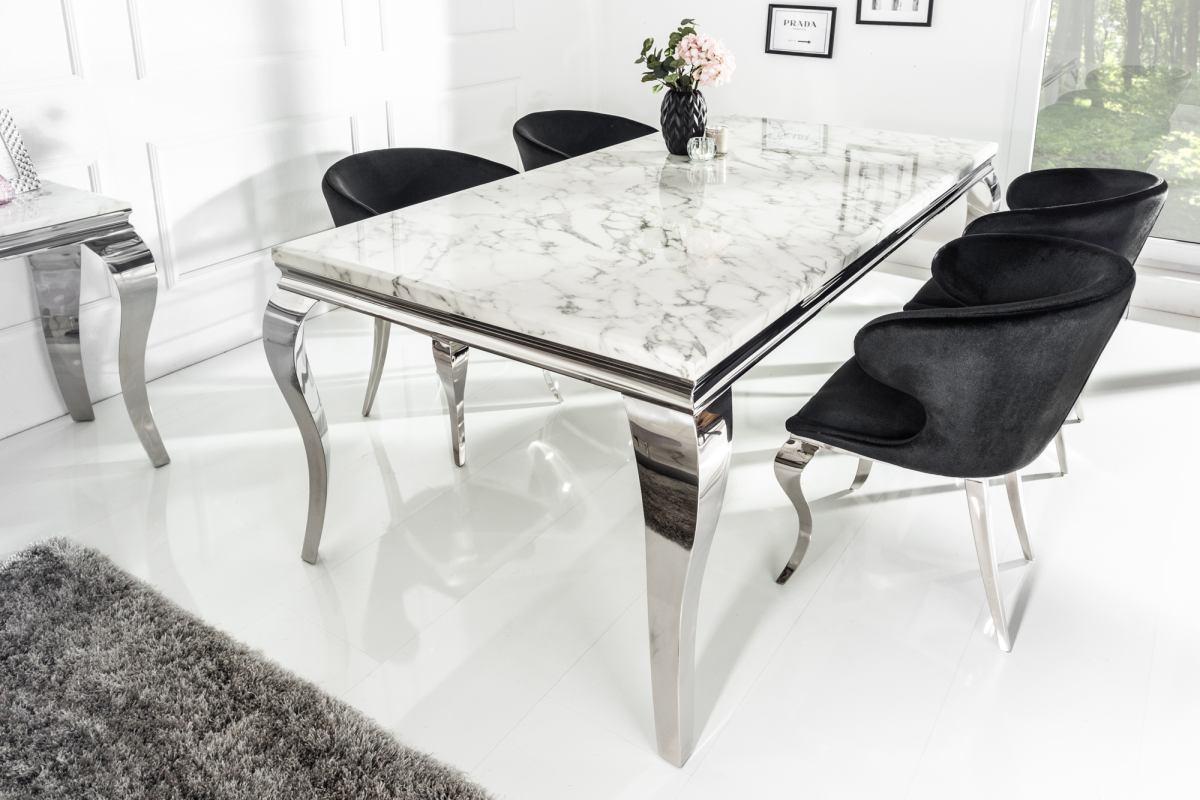 Dizajnový jedálenský stôl Rococo 200 cm mramor