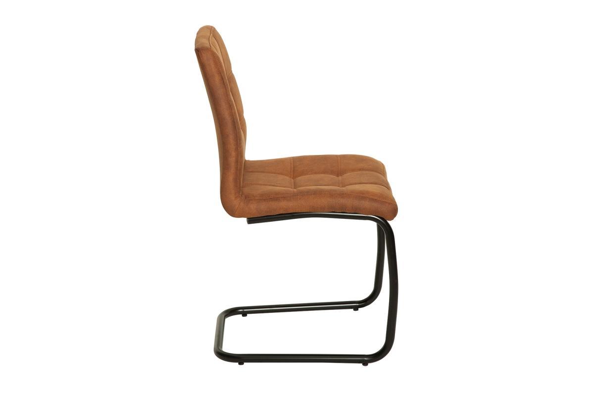 Dizajnová konzolová stolička Moderna, svetlohnedá
