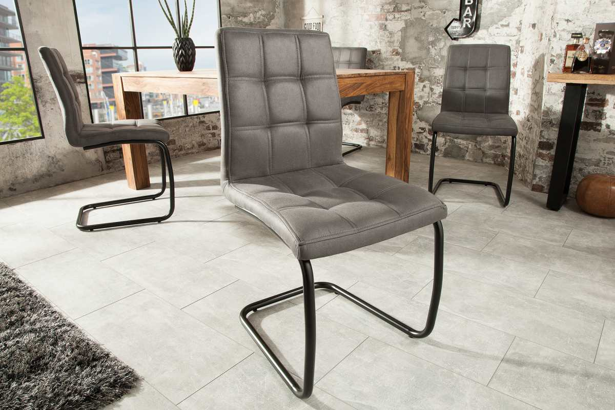 Dizajnová konzolová stolička Moderna, sivá