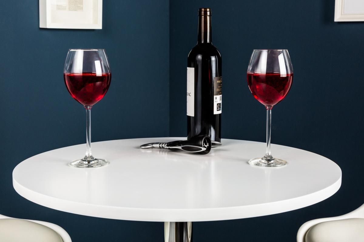 Dizajnový barový stôl Motion biely