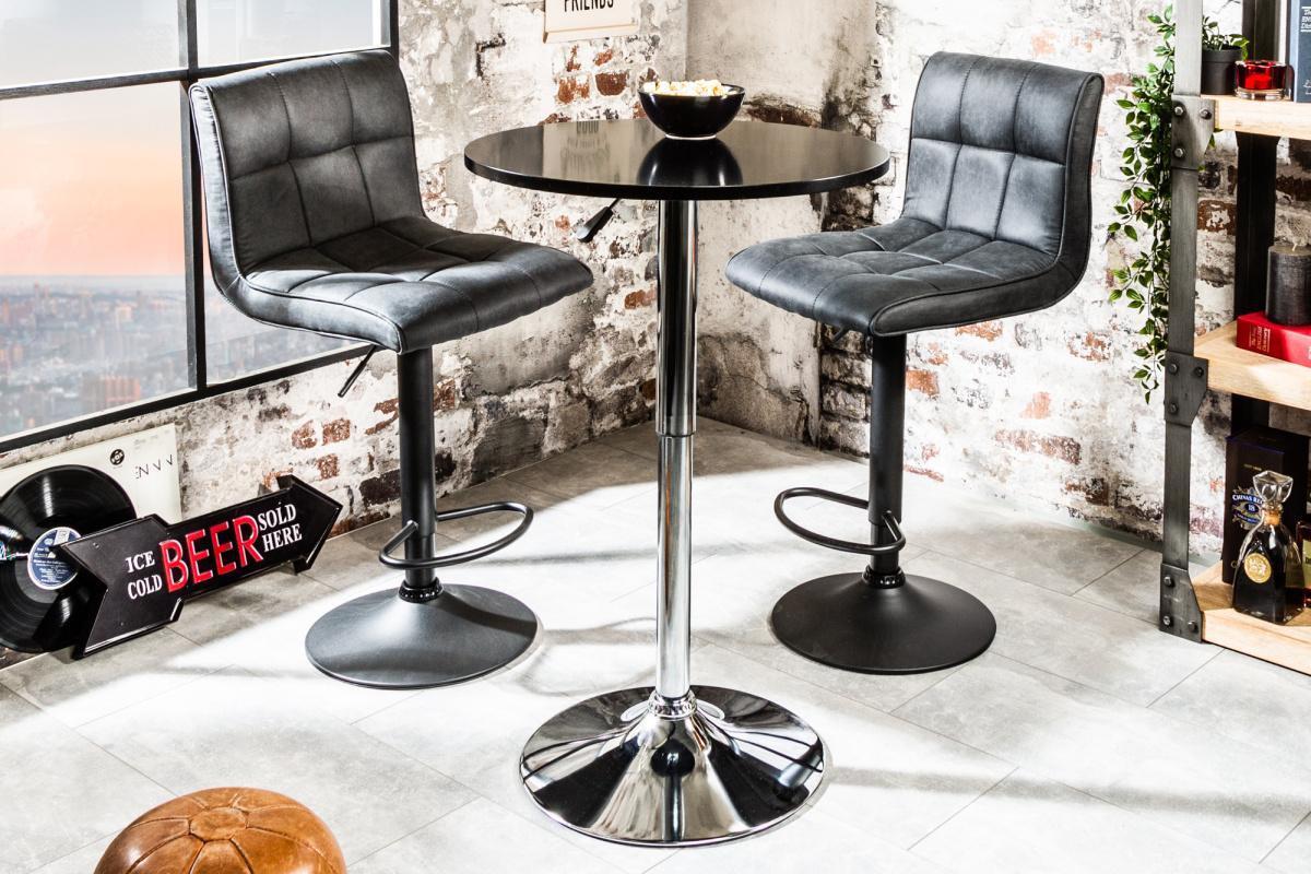 Dizajnový barový stôl Motion čierny