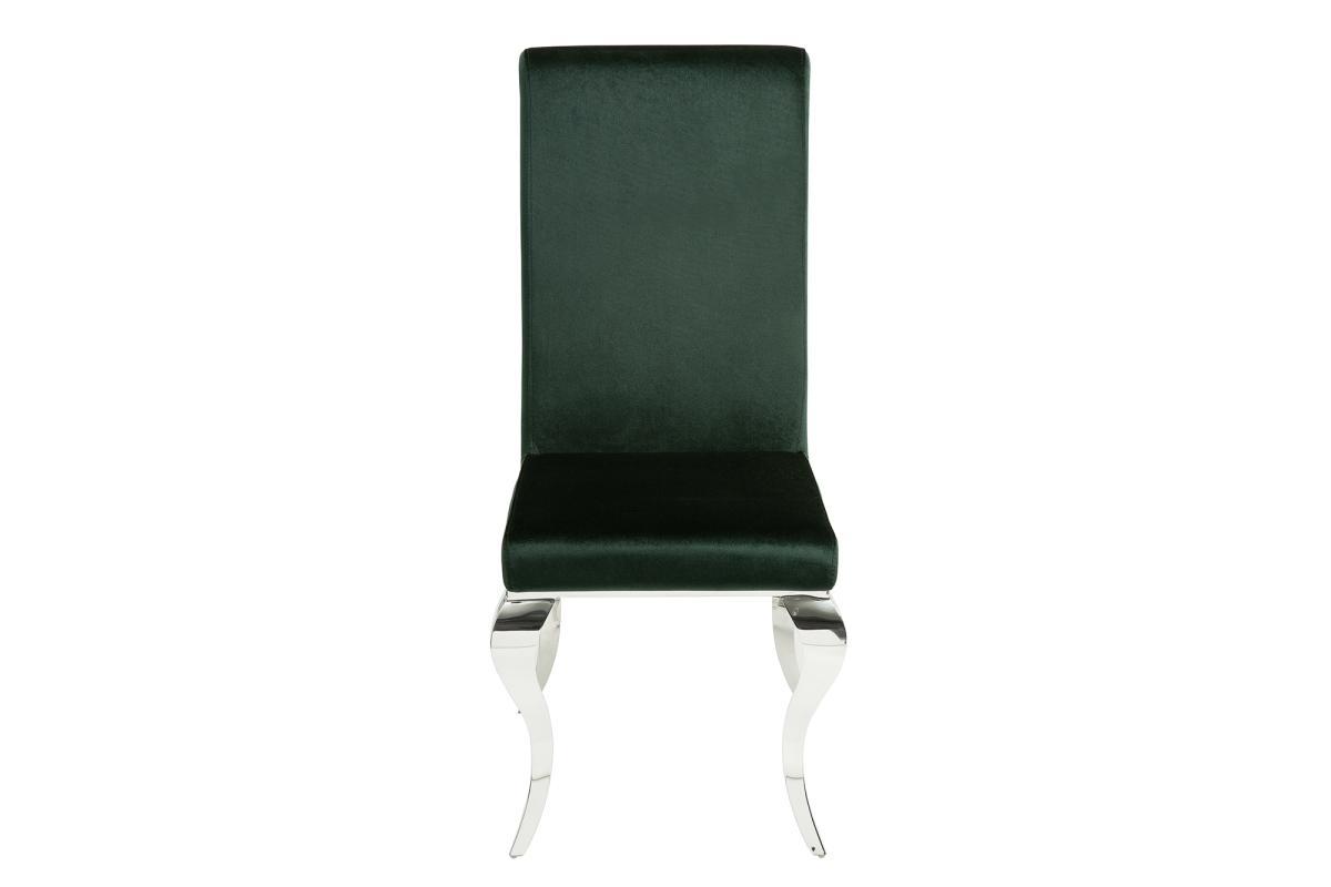 Dizajnová stolička Rococo zelený zamat