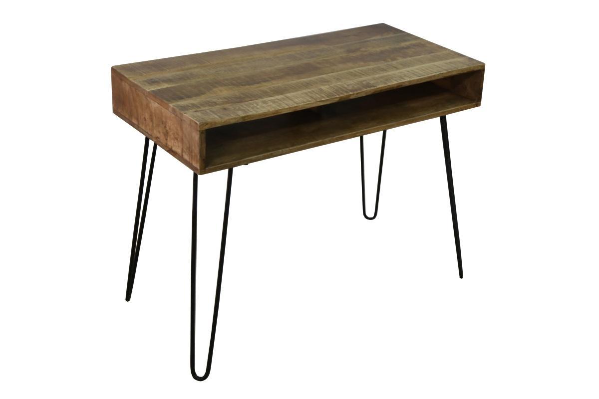 Dizajnový písací stôl Felix 100 cm, mango