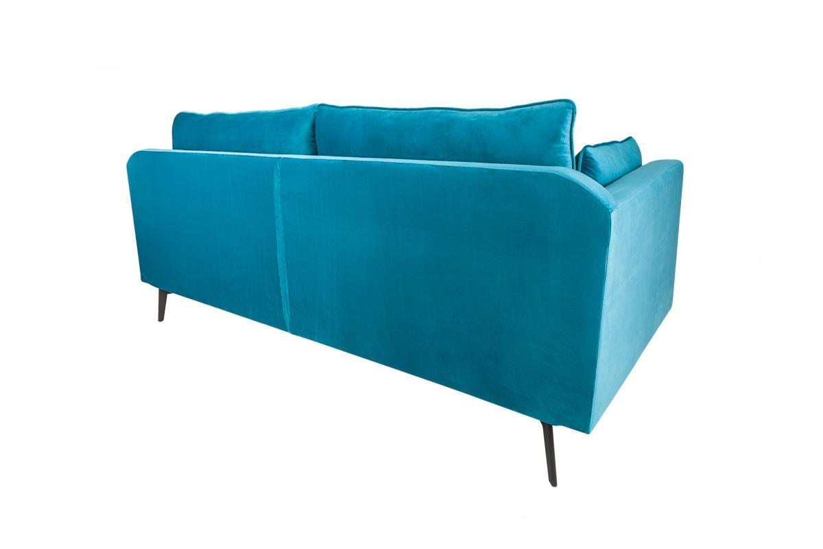 Dizajnová trojsedačka Lena, 210cm, modrý zamat
