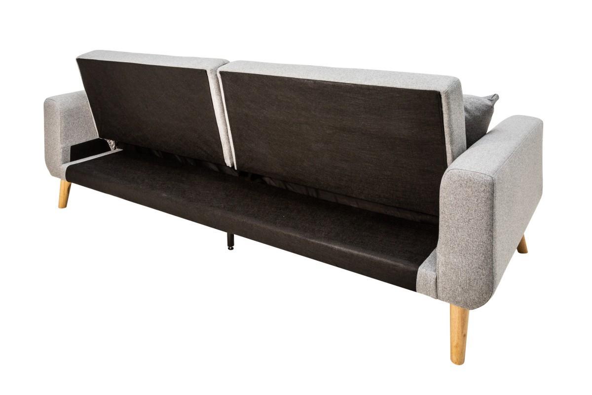 Rozkladacia sedačka Romeo, 215 cm, sivá