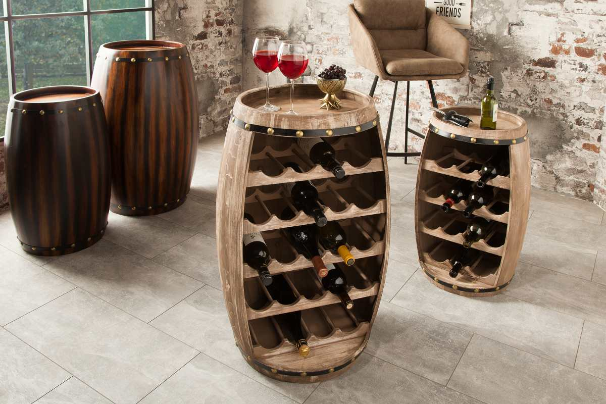 Regál na víno Reed 80 cm, prírodný