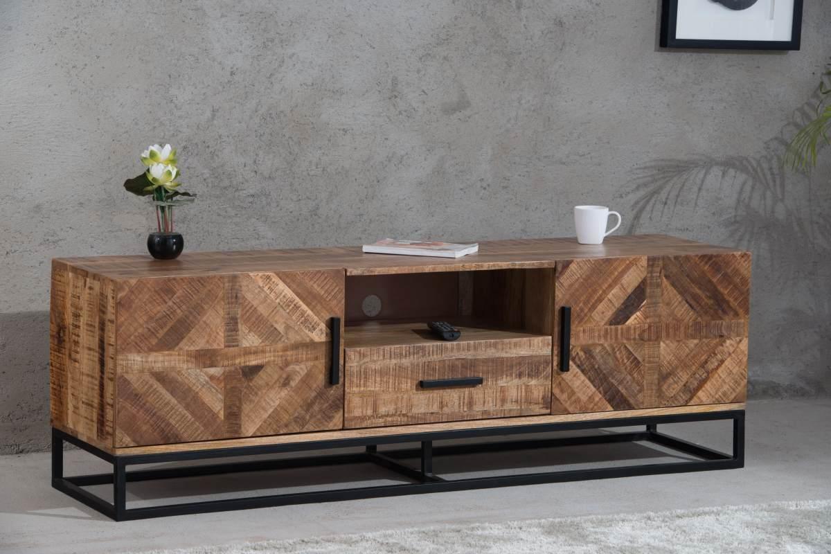 Dizajnový TV stolík Allen 160 cm, mango