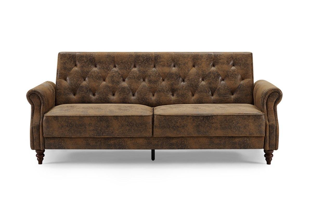 Dizajnová rozkladacia sedačka Scarlet Belle II, 220 cm, antik hnedá, zamat