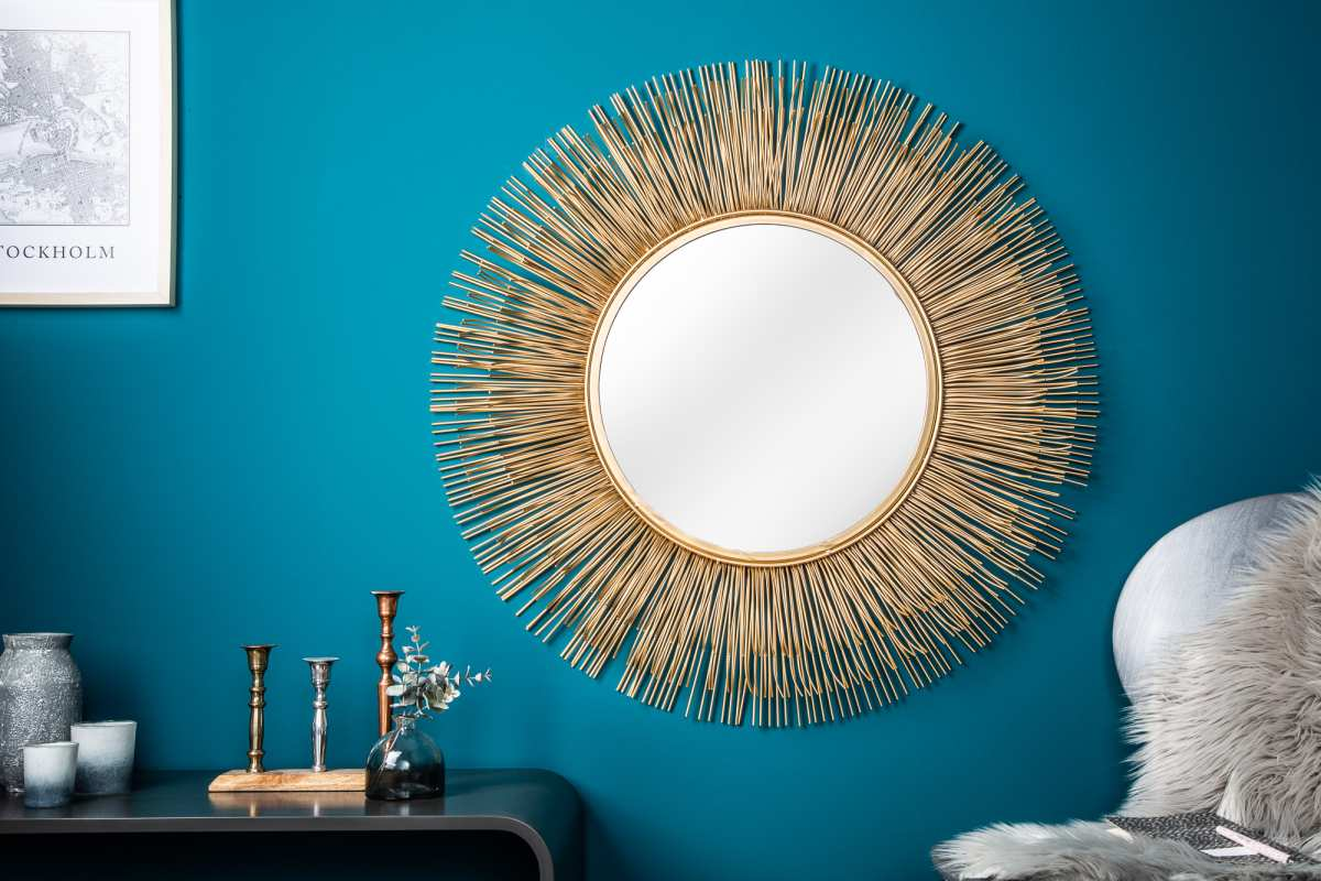 Dizajnové zrkadlo Abram L, zlaté