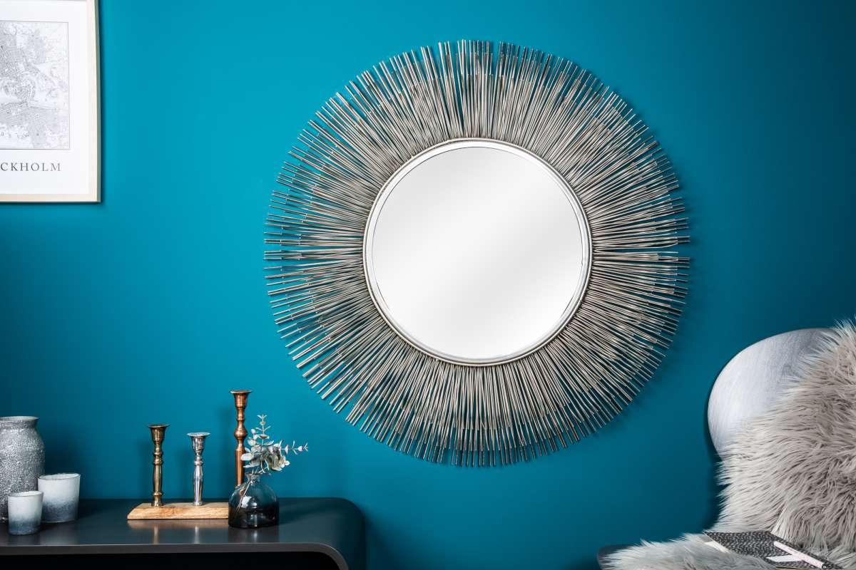 Dizajnové zrkadlo Abram L, strieborné