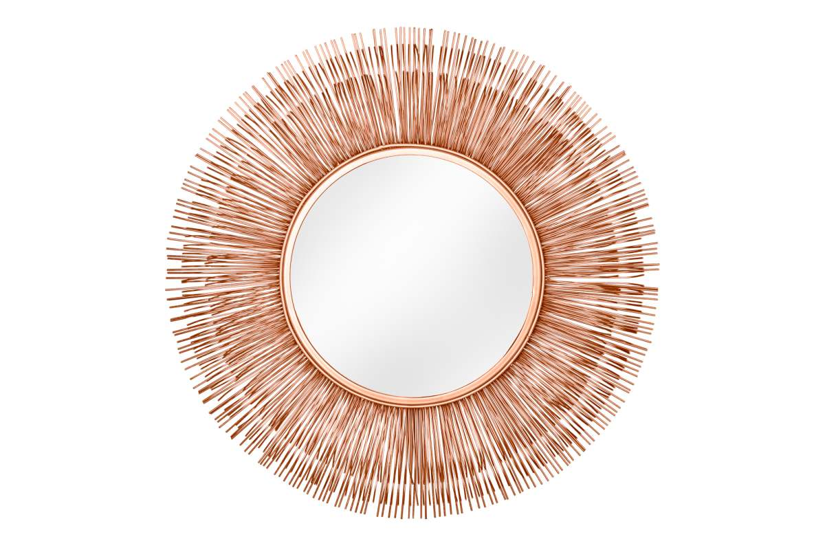 Dizajnové zrkadlo Abram L, medené