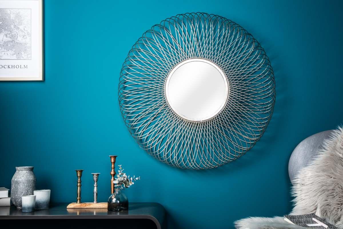 Dizajnové zrkadlo Caylee L, strieborné