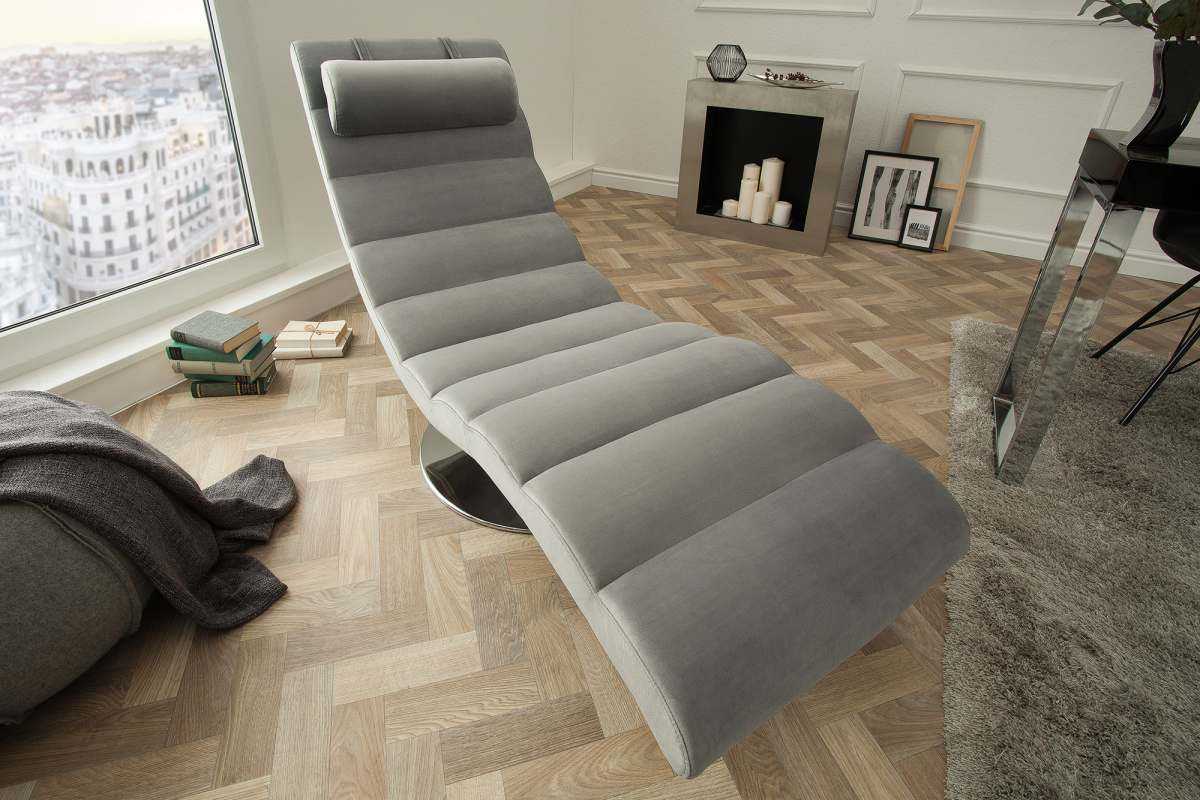 Luxusné relaxačné kreslo Rest sivý zamat