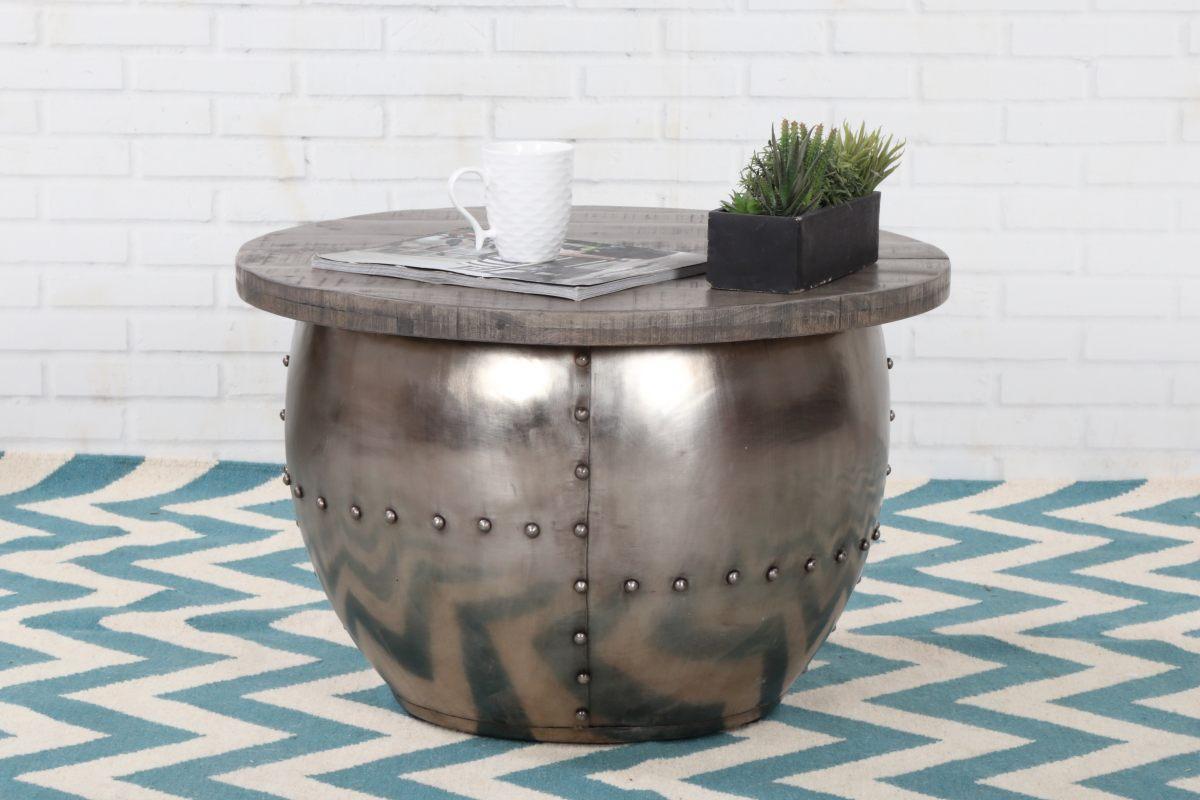 LuxD Dizajnový konferenčný stolík Maurice, sivý