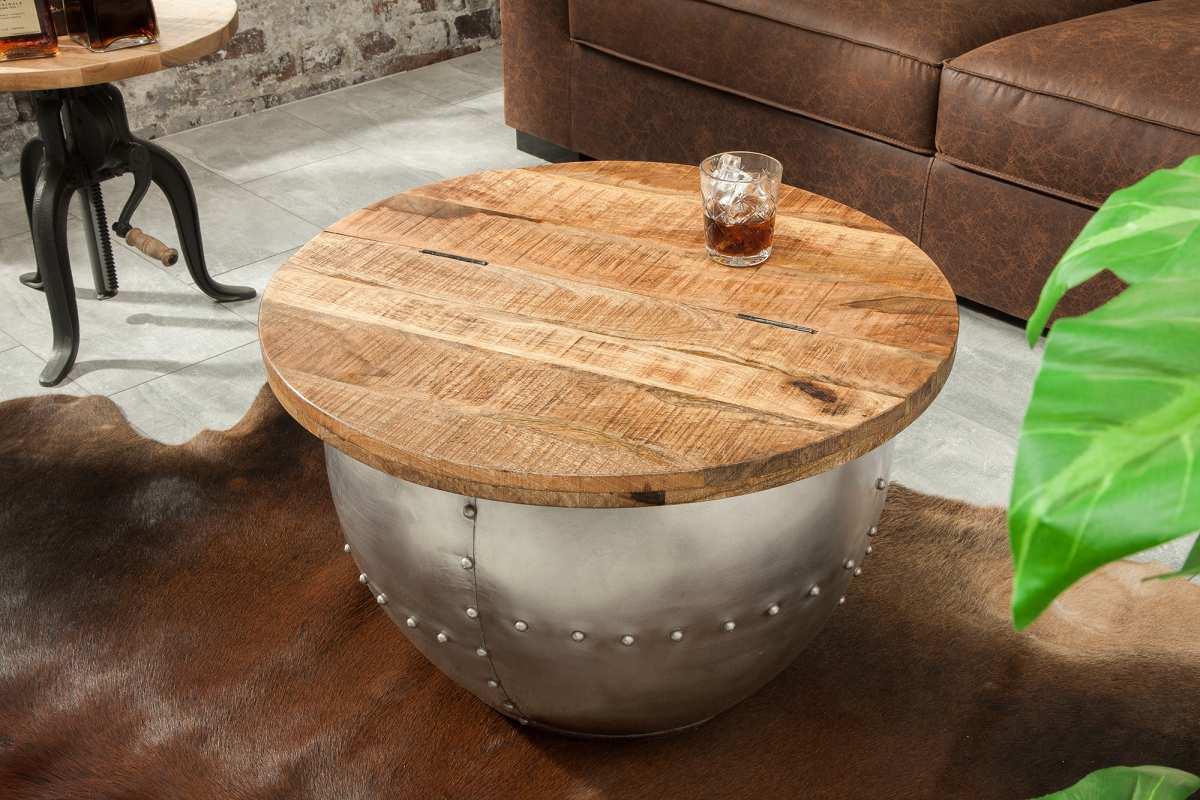 LuxD Dizajnový konferenčný stolík Maurice, prírodný