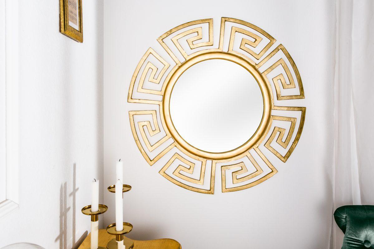 Nástenné zrkadlo Leonel, zlaté, 85 cm