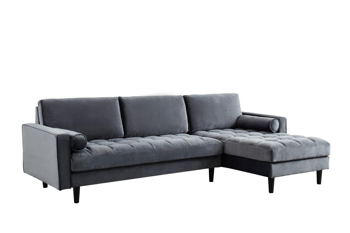 Rohová sedačka Adan sivý zamat
