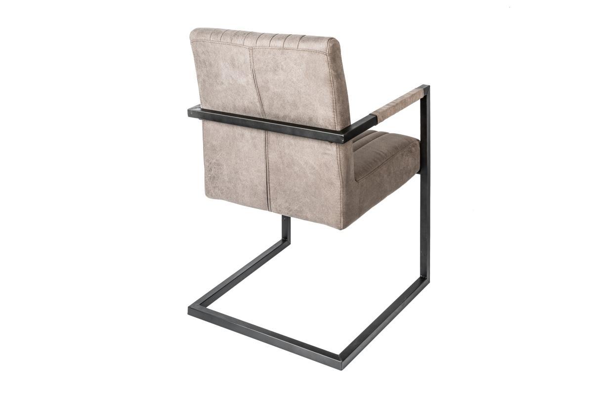 Konzolová stolička Boss s podrúčkami, sivohnedé taupe