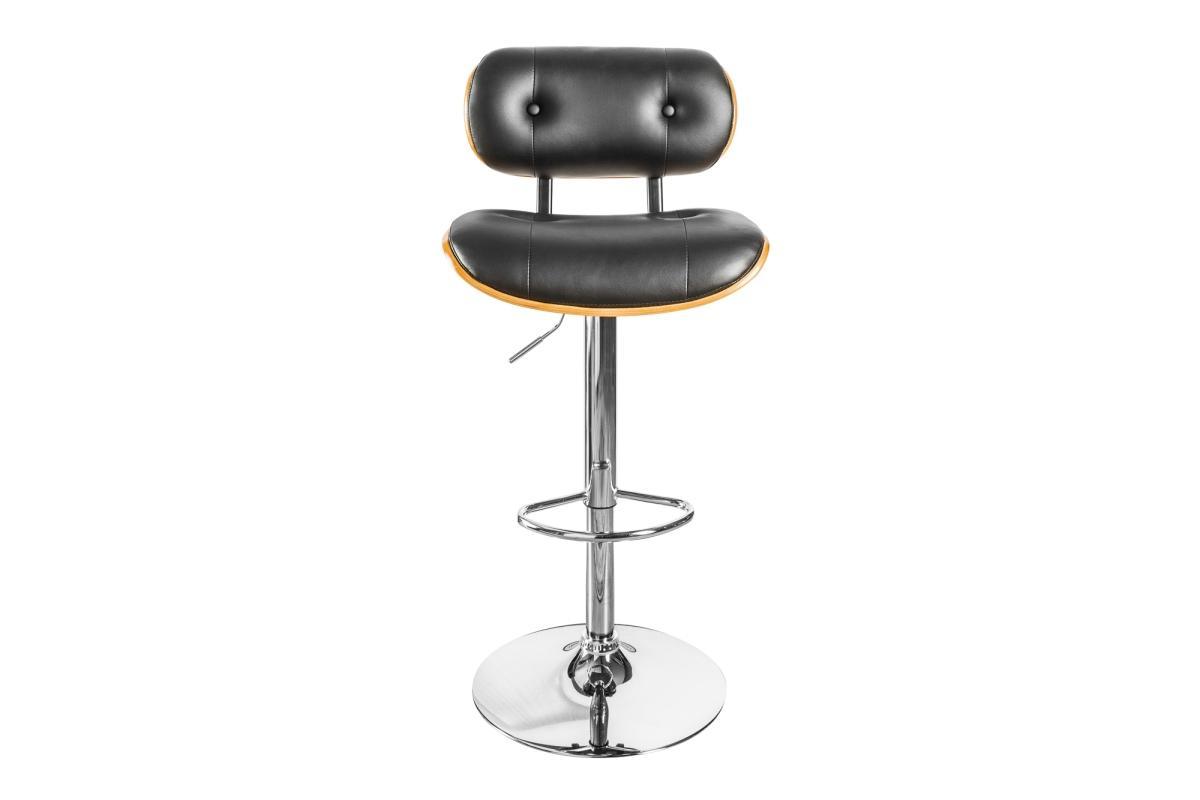 Dizajnová barová stolička Kadence, čierny orech