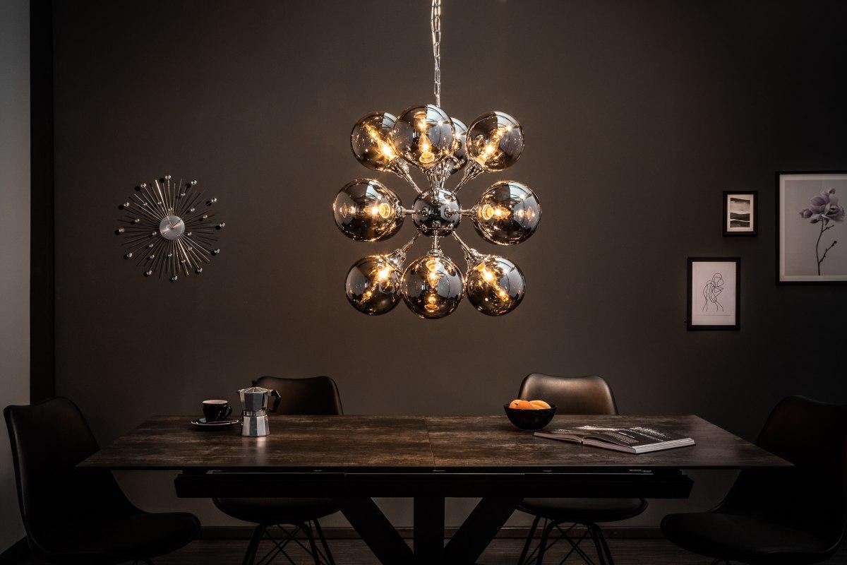 Dizajnové závesné svietidlo Lilyana, 72 cm, strieborné