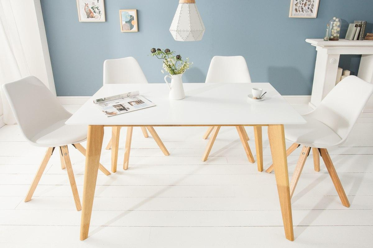 Dizajnový jedálenský stôl Sweden, 120 cm, biely