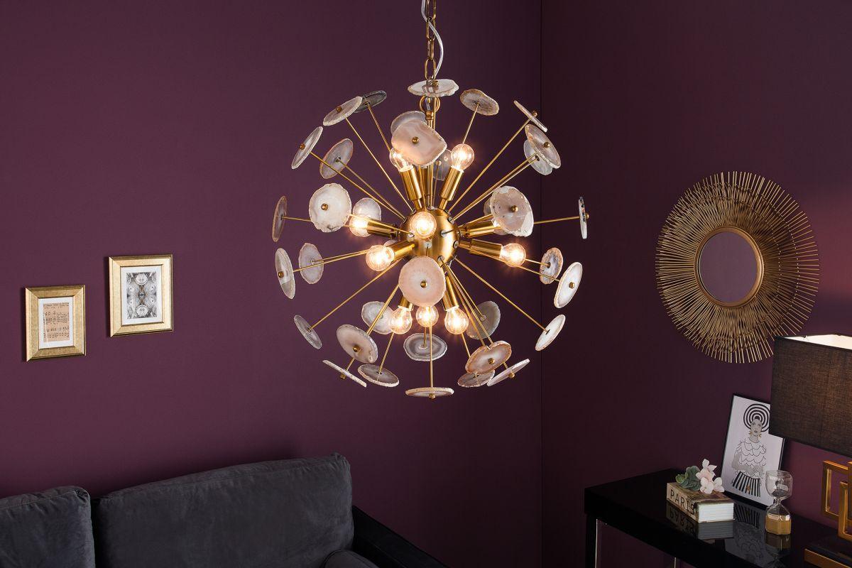 Dizajnové závesné svietidlo Orion, 60 cm, zlaté