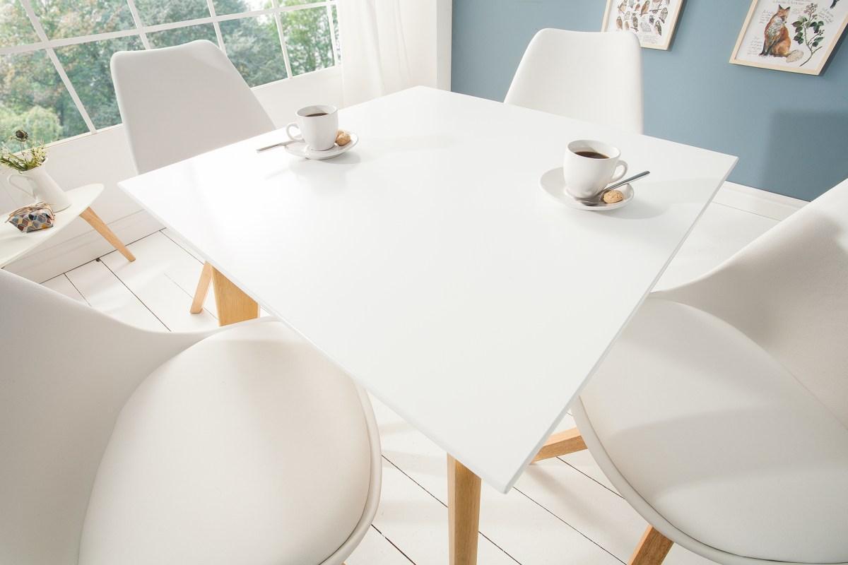 Dizajnový jedálenský stôl Sweden, 70 cm, biely