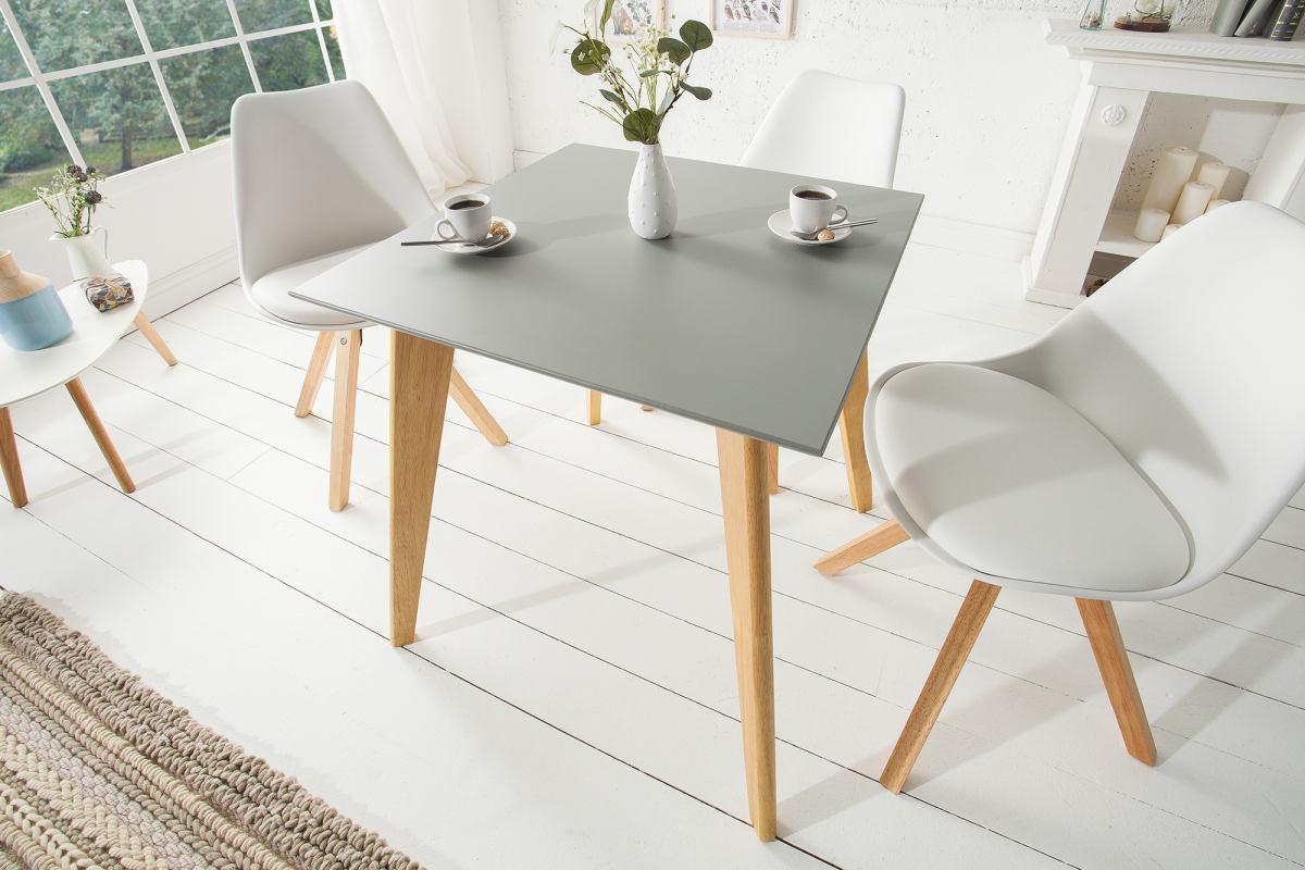 Dizajnový jedálenský stôl Sweden, 70 cm, sivý