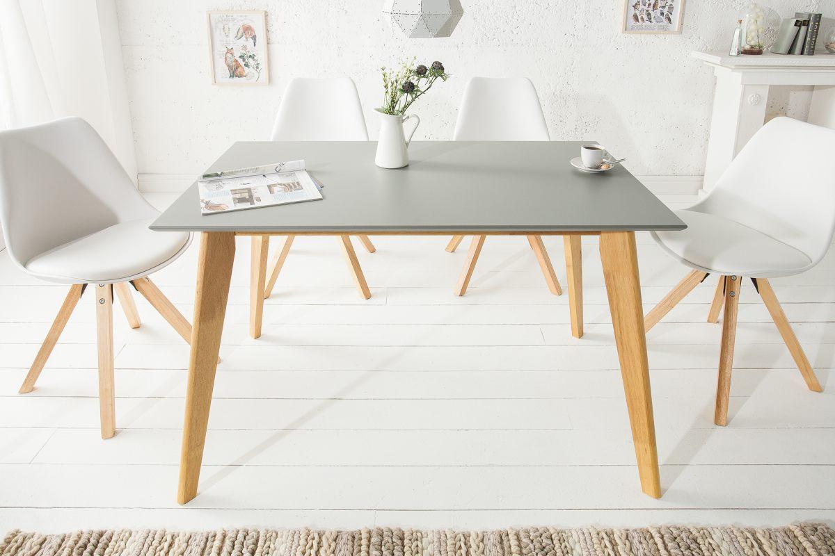 Dizajnový jedálenský stôl Sweden, 120 cm, sivý