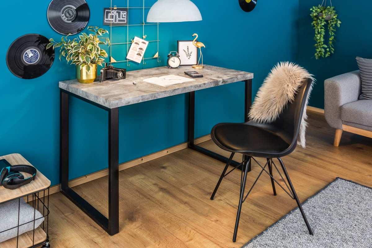 Dizajnový písací stôl Lexie, 120 cm, betónový vzhľad