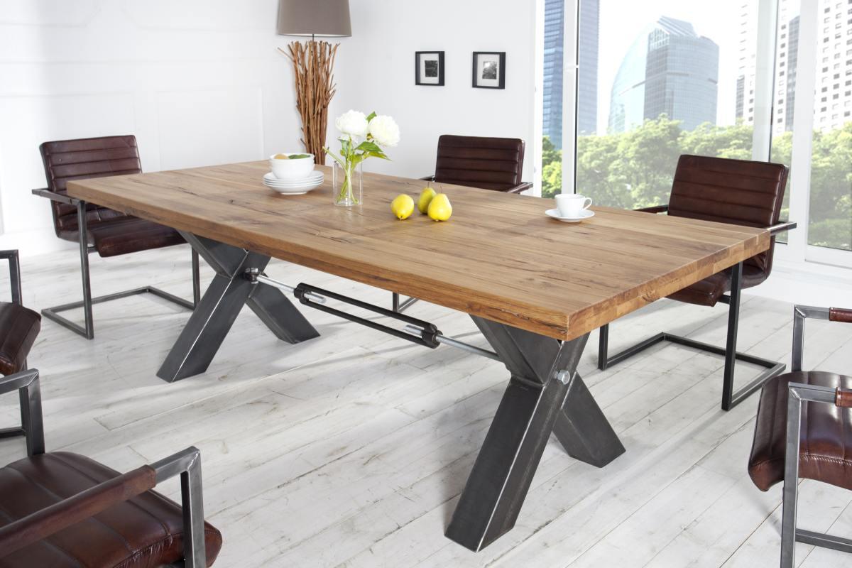 Dizajnový jedálenský stôl Thunder, 240 cm, divý dub olejovaný